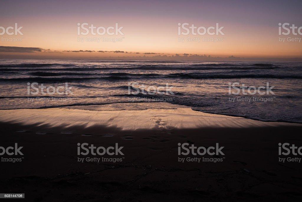 Sunrise at Lydgate Beach Kauai stock photo