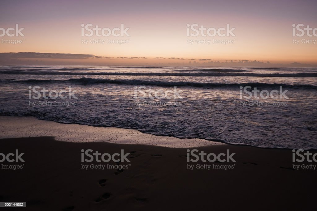 Sunrise at Lydgate Beach stock photo