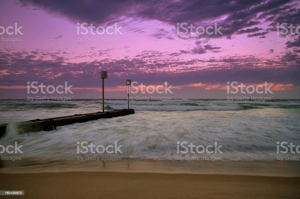 Sunrise at Manly Beach stock photo