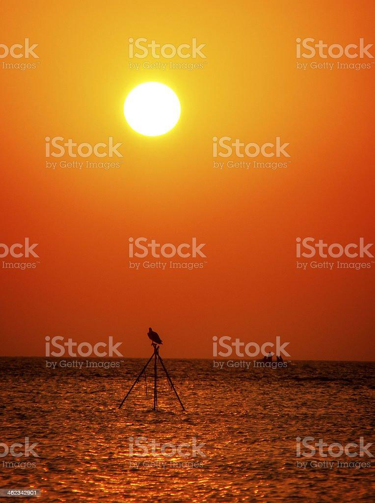 Sunrise at Marsa Sagra stock photo