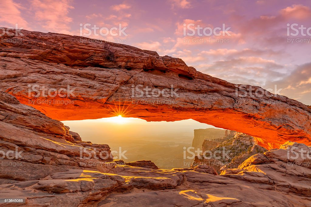 Sunrise at Meas Arch stock photo