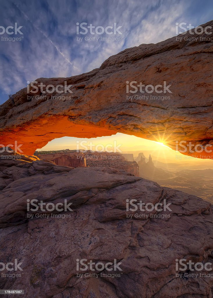 Sunrise at Mesa Arch stock photo
