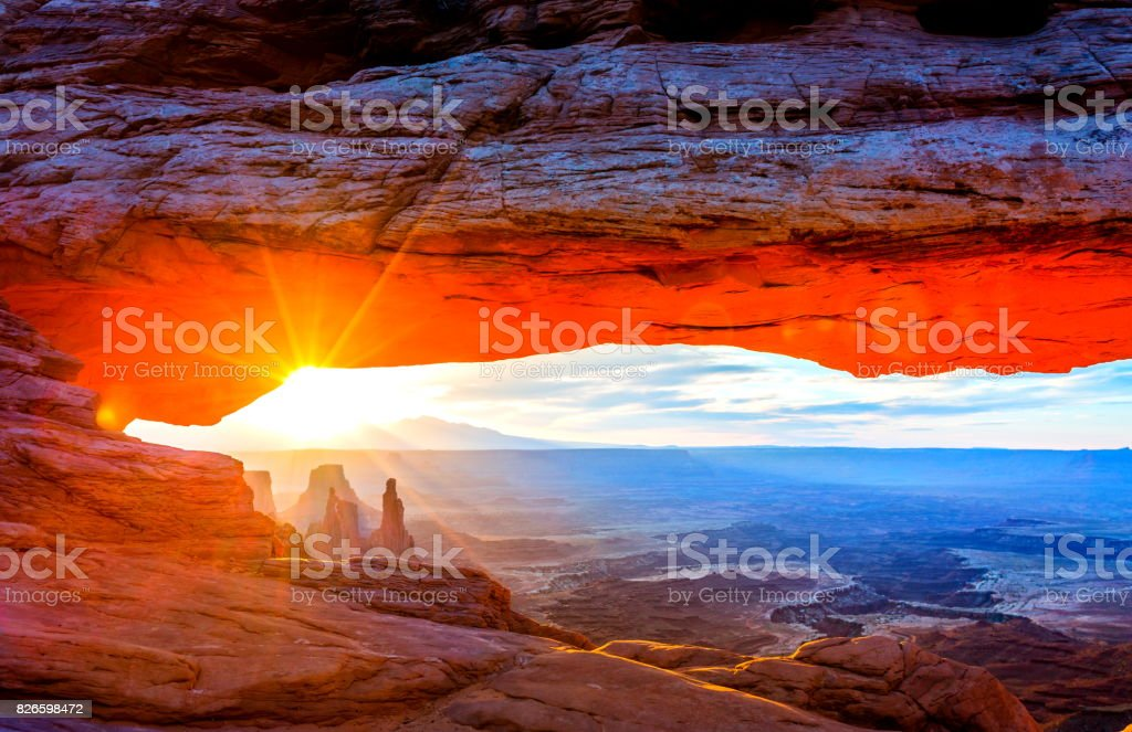 Sunrise at Mesa Arch, Utah-USA stock photo