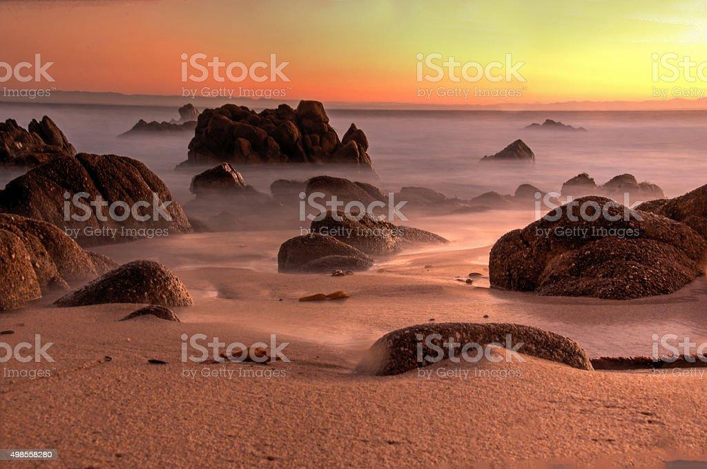 Восход на Залив Монтерей Стоковые фото Стоковая фотография