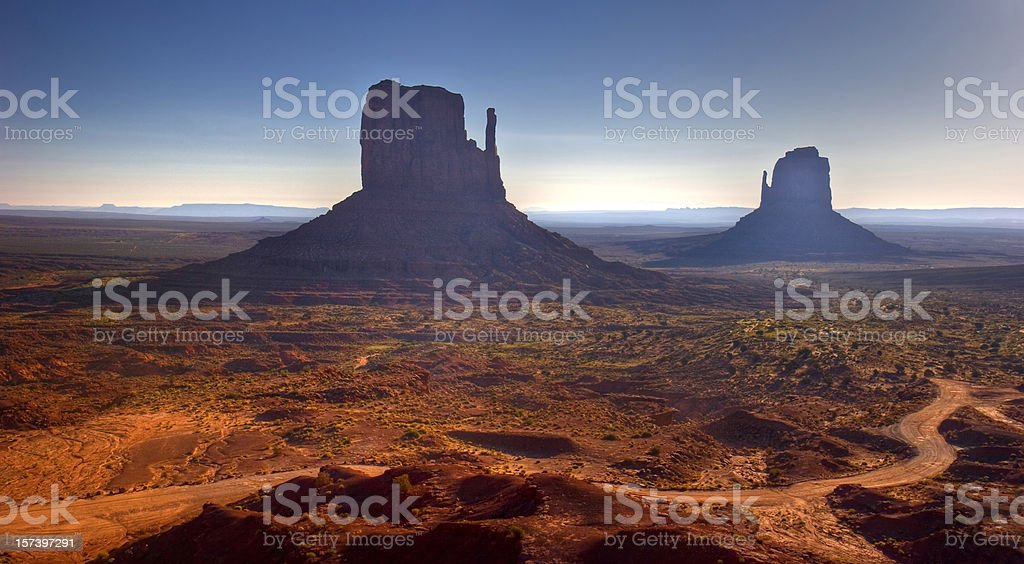 sunrise at  monument valley royalty-free stock photo