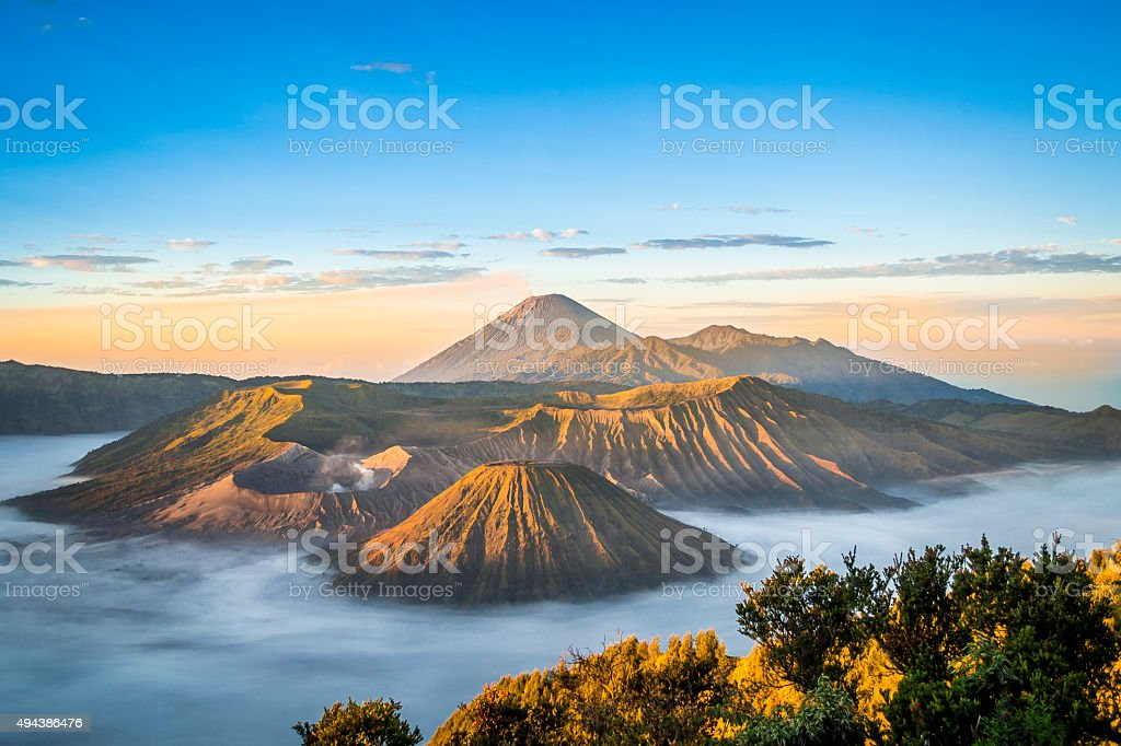 Sunrise at Mount Bromo stock photo