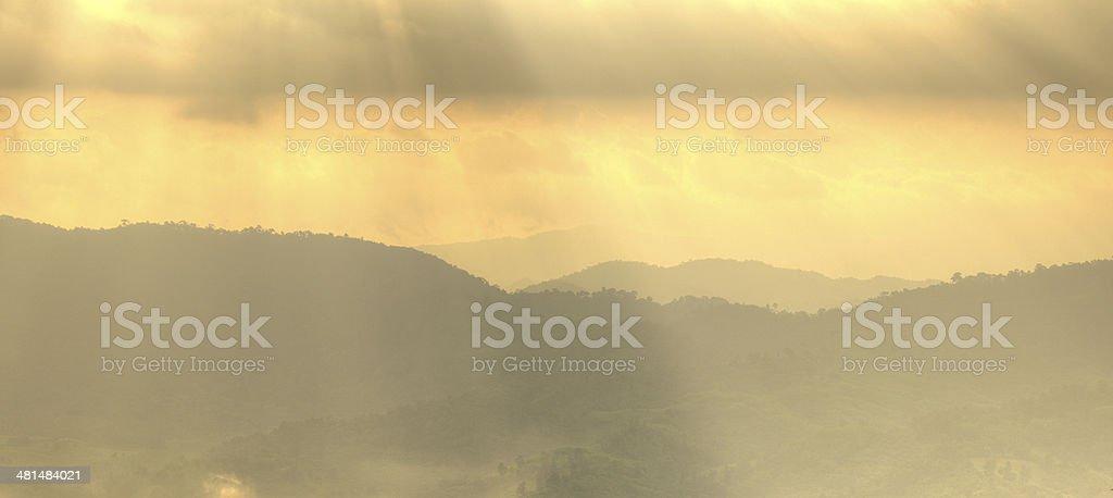 sunrise at mountain royalty-free stock photo