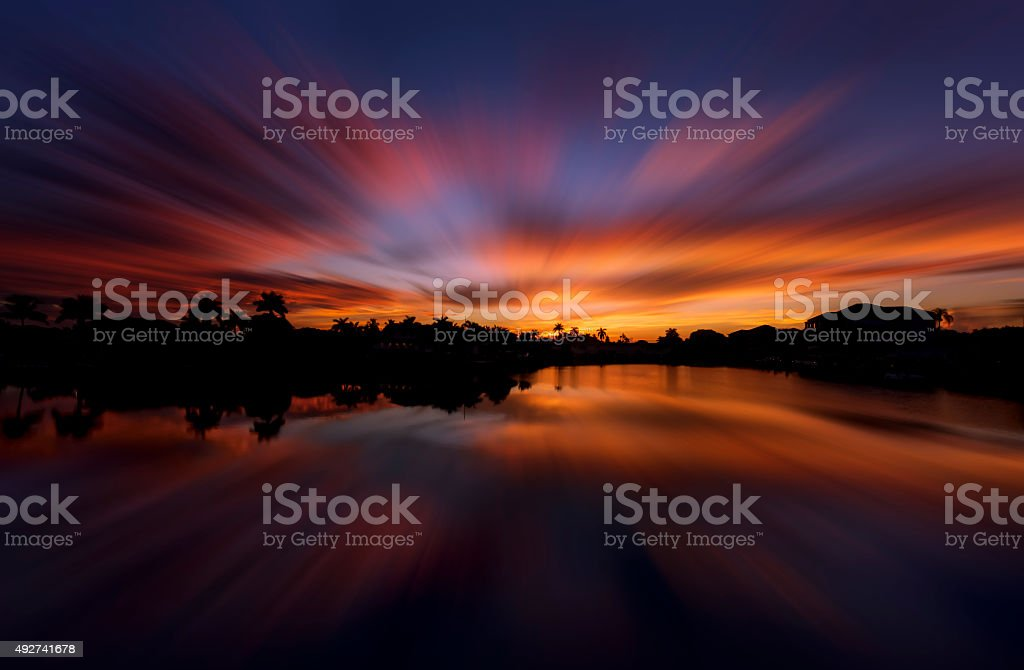 Sunrise at Naples, Florida stock photo