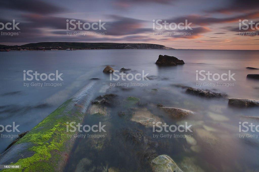 Sunrise at Peveril Point, Swanage, U.k stock photo