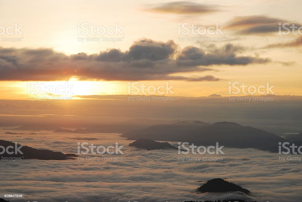 sunrise at phucheefah in chiangrai province northeast in thailand stock photo
