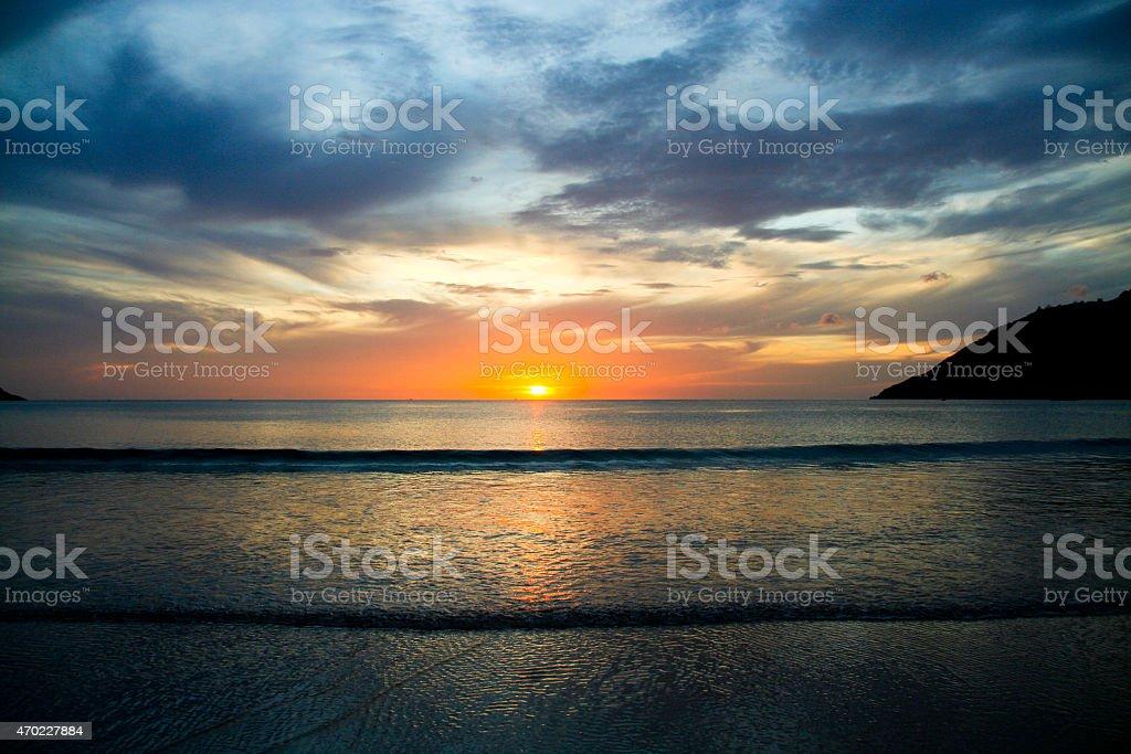 Sunrise at Phuket Beach stock photo