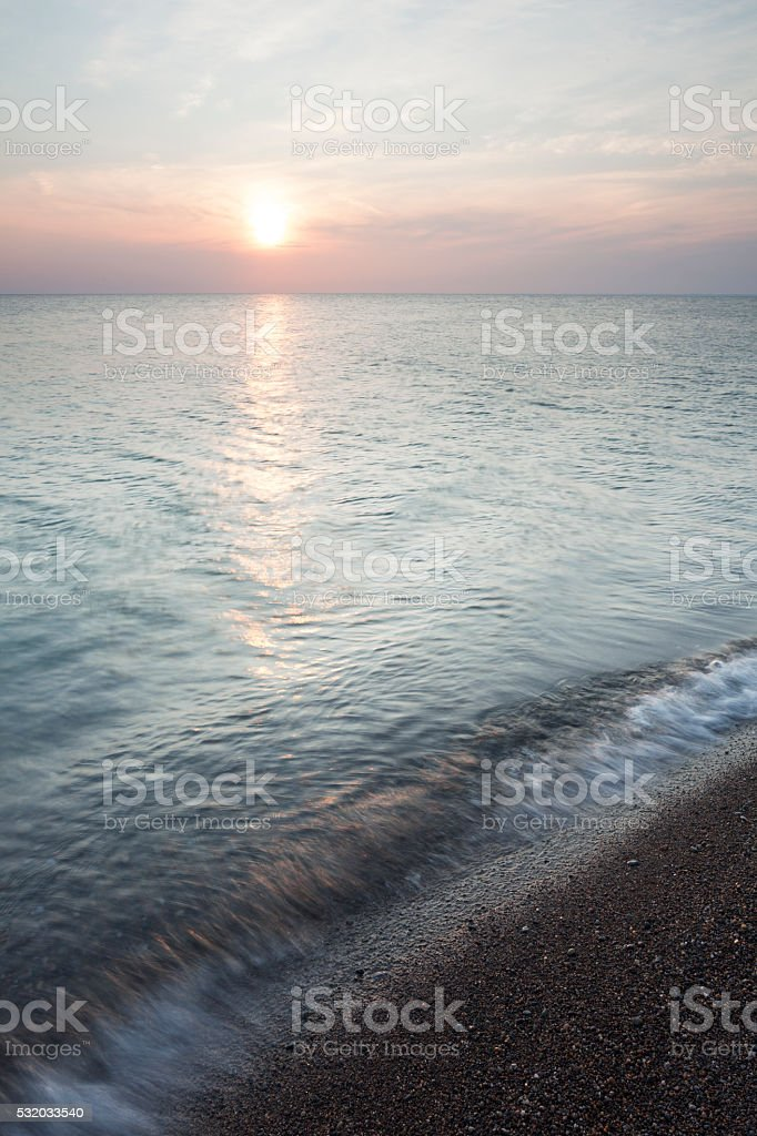 Sunrise at Point Pelee National Park stock photo