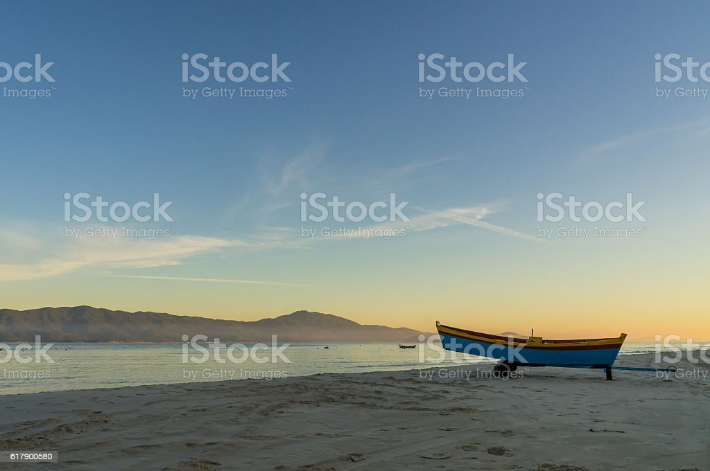 Sunrise at Praia do Forte, Florianopolis, Brazil. stock photo