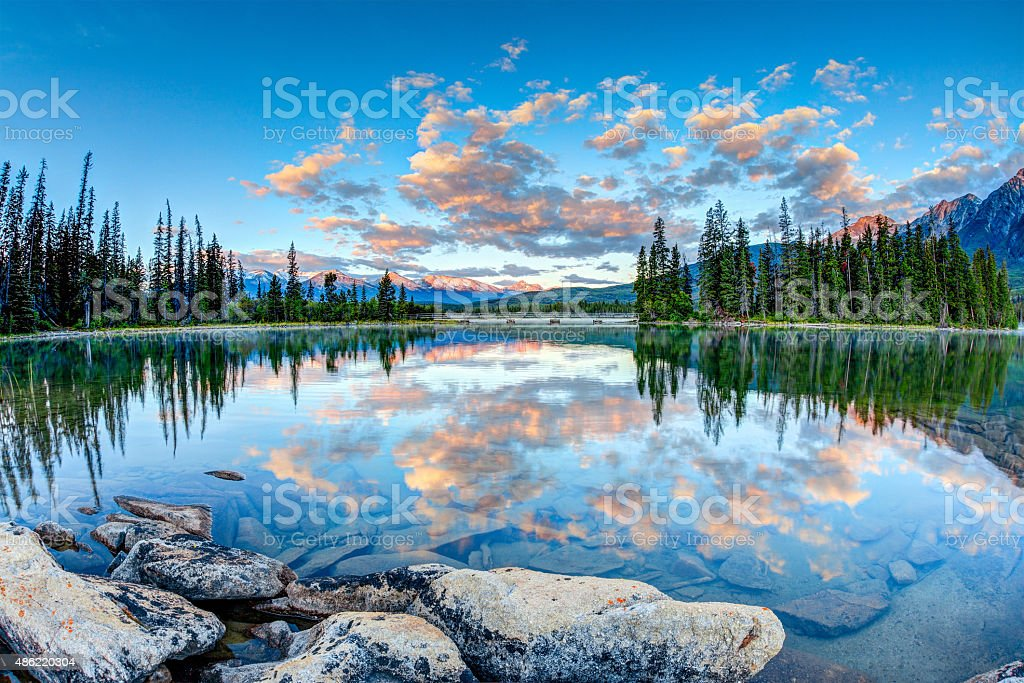 Sunrise at Pyramid Lake stock photo