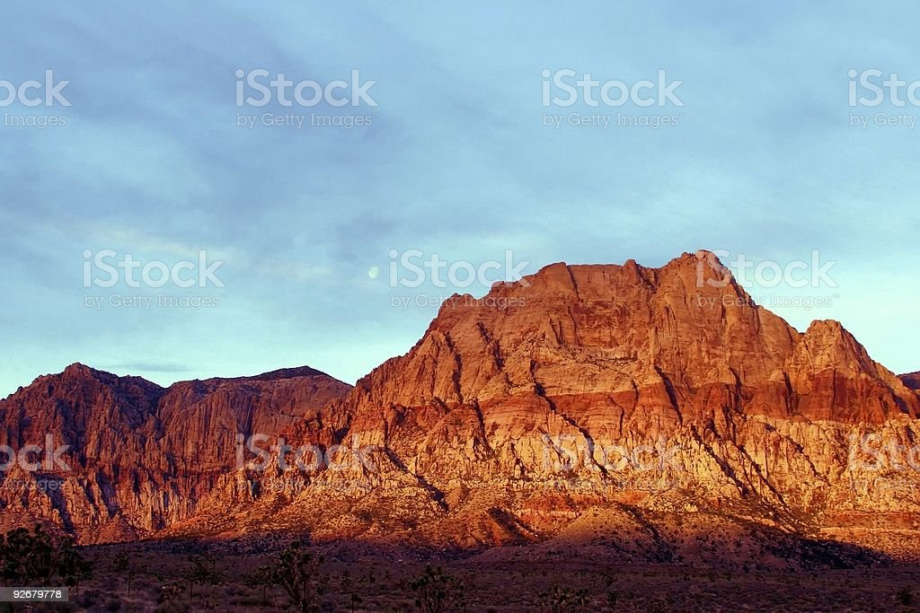 Sunrise at Red Rock Canyon royalty-free stock photo