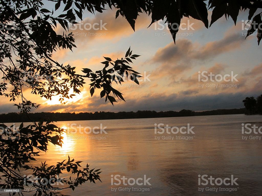 Sunrise at Reed's Lake - 1 royalty-free stock photo