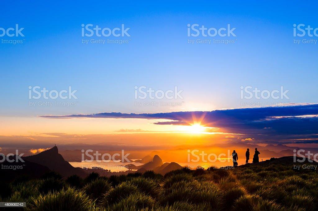 Sunrise at Rio de Janeiro stock photo