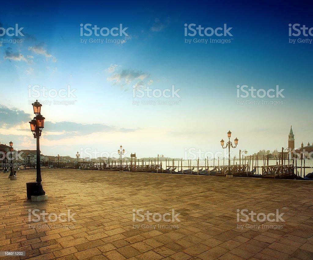 Sunrise at Saint Mark's Square, Venice stock photo