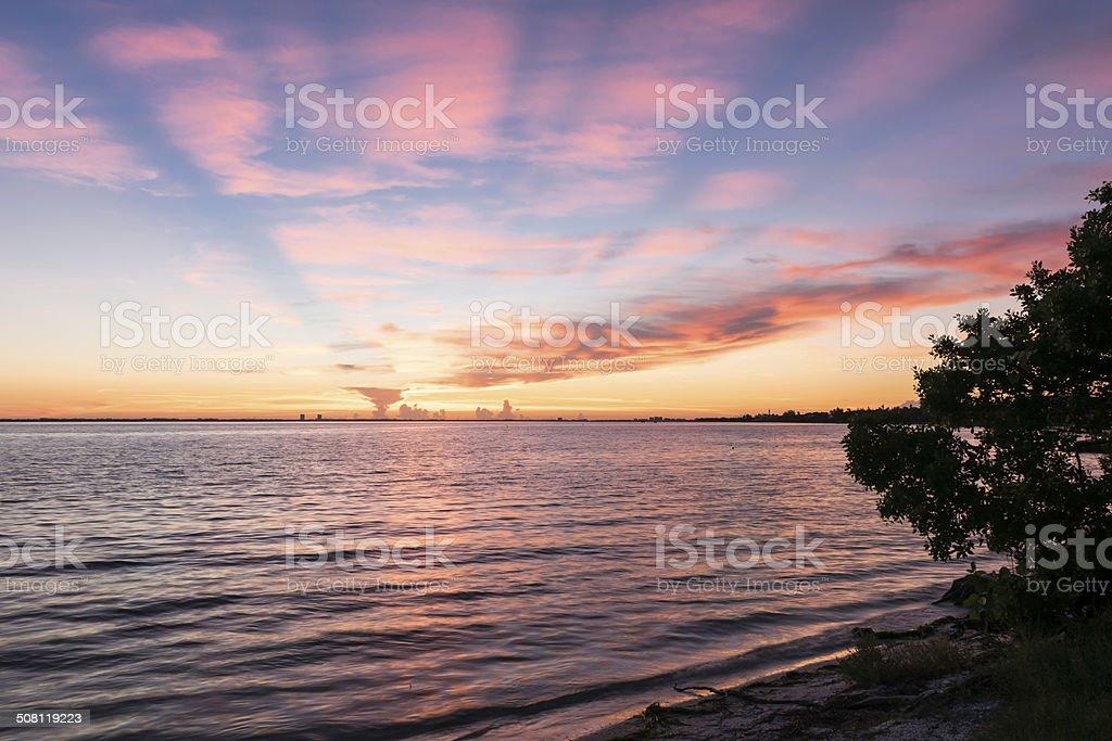 Sunrise At Sanibel Island stock photo