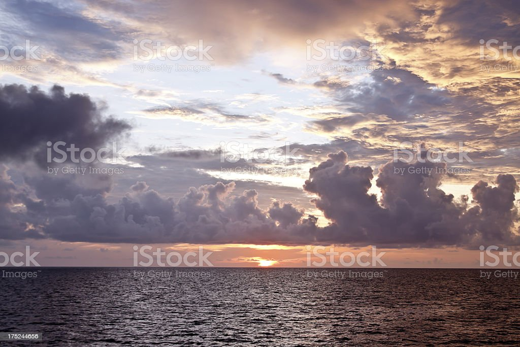 sunrise at sea royalty-free stock photo