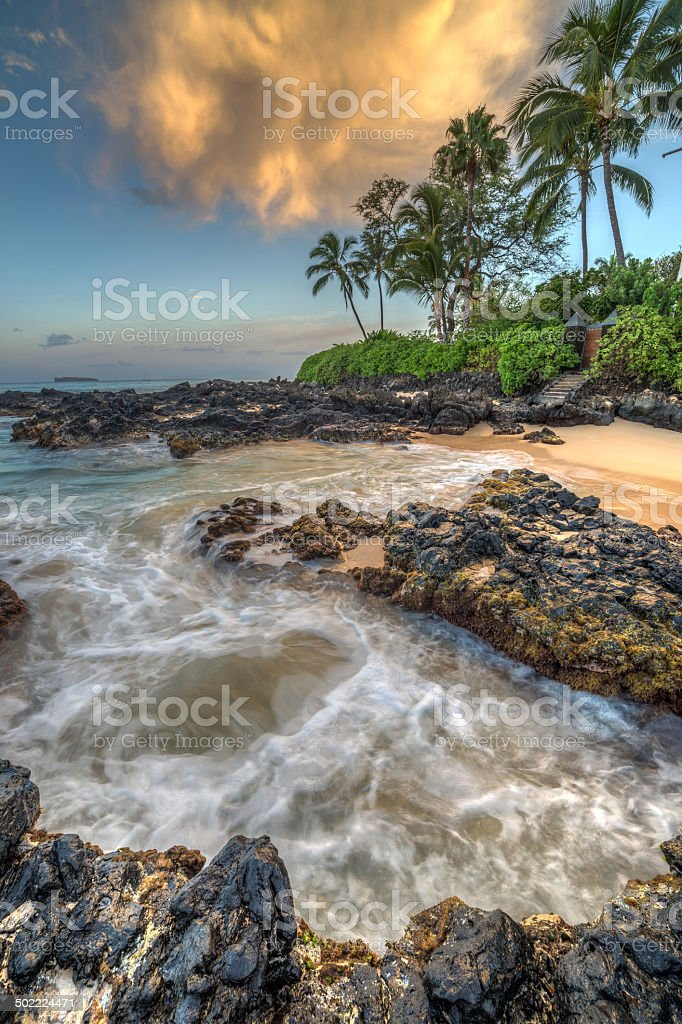 Sunrise at Secret Cove stock photo