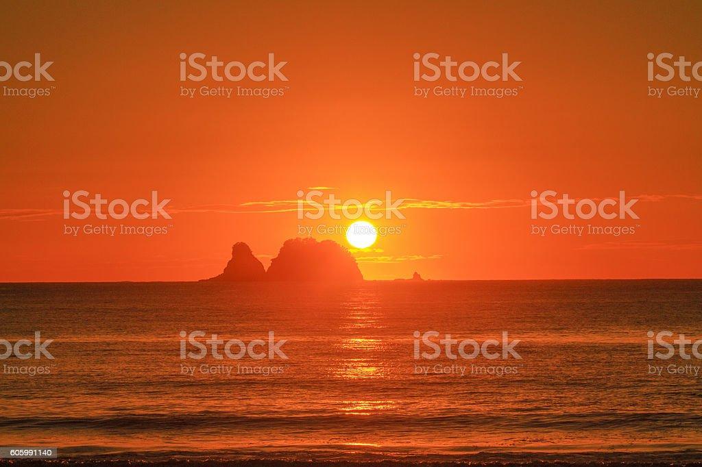 sunrise at Simpson Beach stock photo