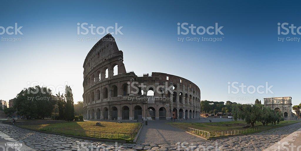 Sunrise at the Coliseum, Rome royalty-free stock photo