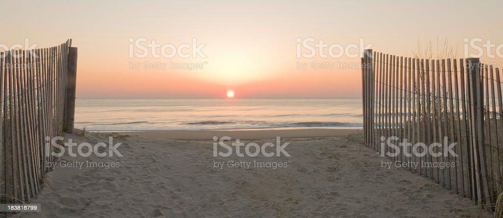Sunrise at the End of Path royalty-free stock photo