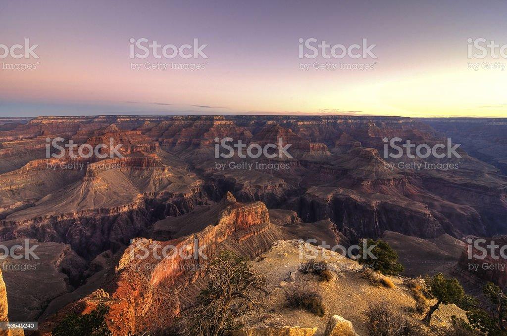 Sunrise at the Grand Canyon royalty-free stock photo
