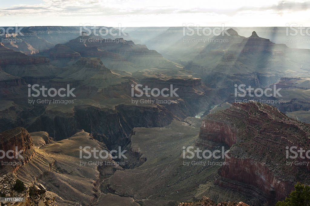 Sunrise at the Grand Canyon/Sonnenaufgang royalty-free stock photo