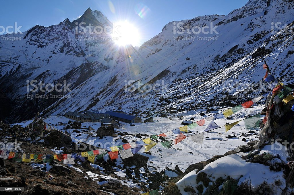 Sunrise at the Himalayas royalty-free stock photo
