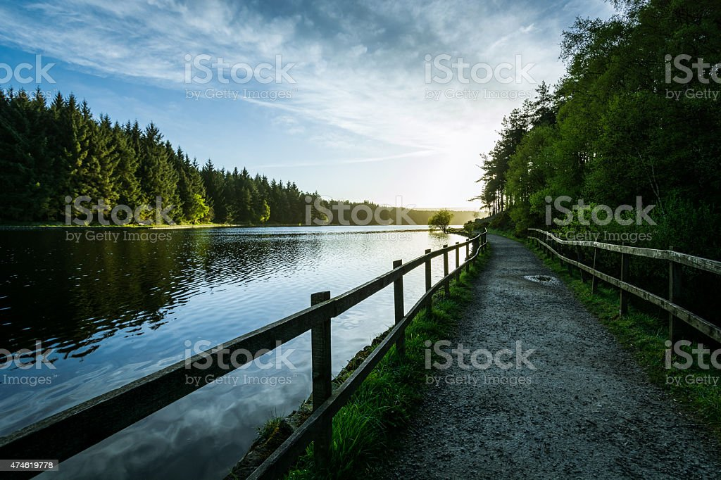 Sunrise At The Lake On A Peaceful Spring Morning. stock photo