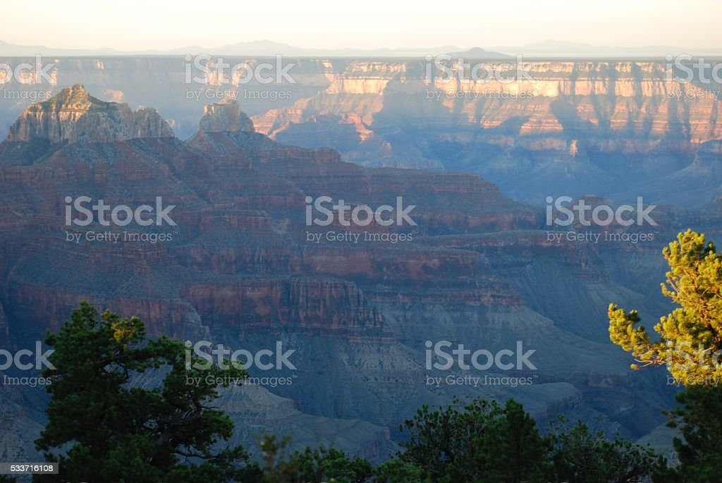 Sunrise at the North Rim - Grand Canyon stock photo