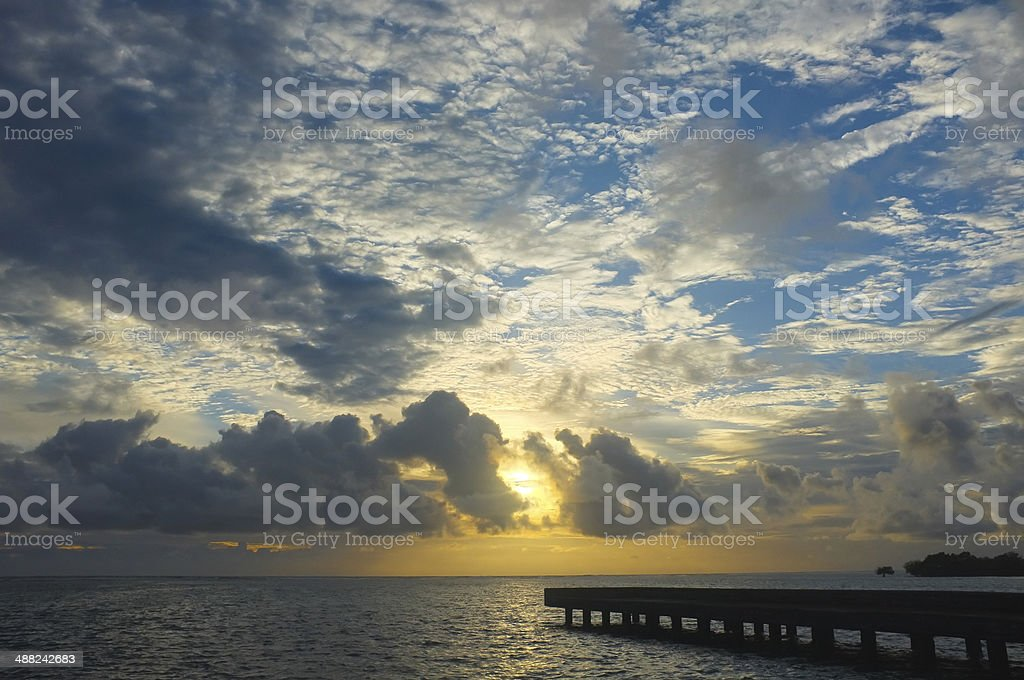 Sunrise at the Pier stock photo