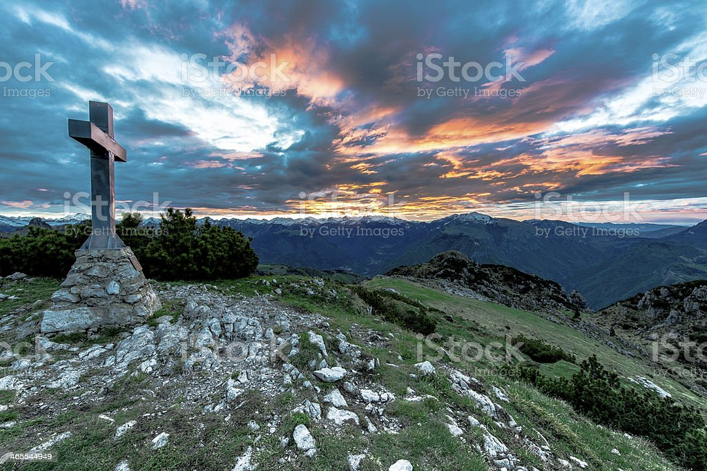 sunrise at the summit royalty-free stock photo