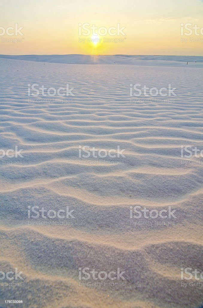 Sunrise at White Sands National Monument, New Mexico stock photo