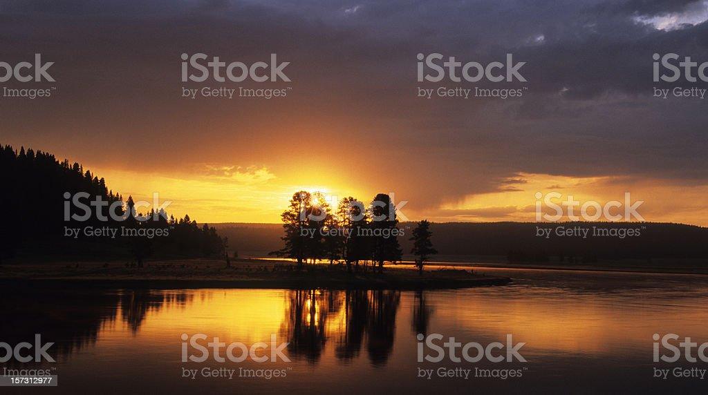 Sunrise at Yellowstone royalty-free stock photo