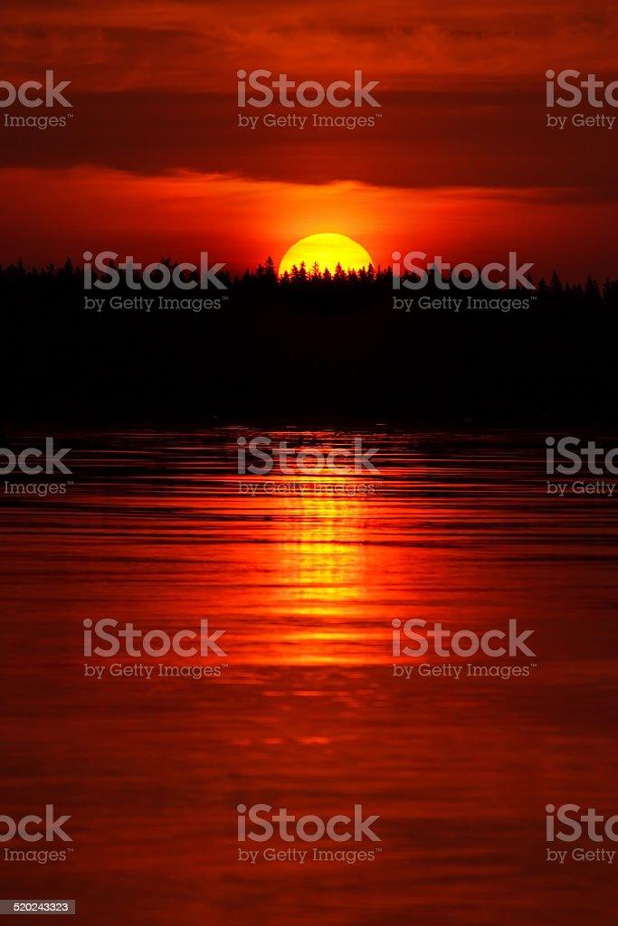 Sunrise background royalty-free stock photo
