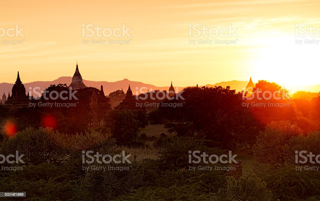 Sunrise Bagan stock photo