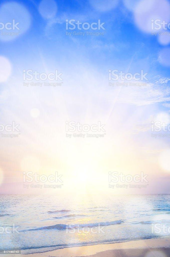 sunrise beach background stock photo
