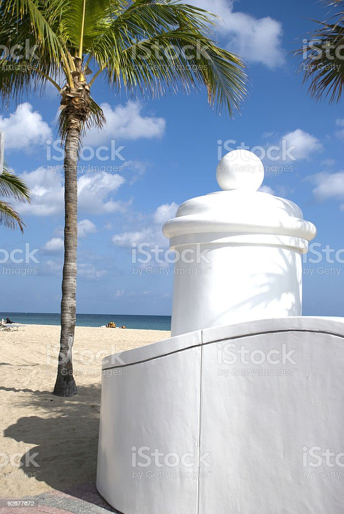 Sunrise Beach in Ft. Lauderdale royalty-free stock photo