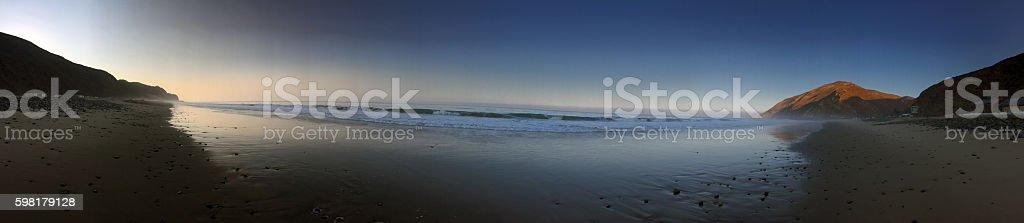 Sunrise Beach Panorama stock photo