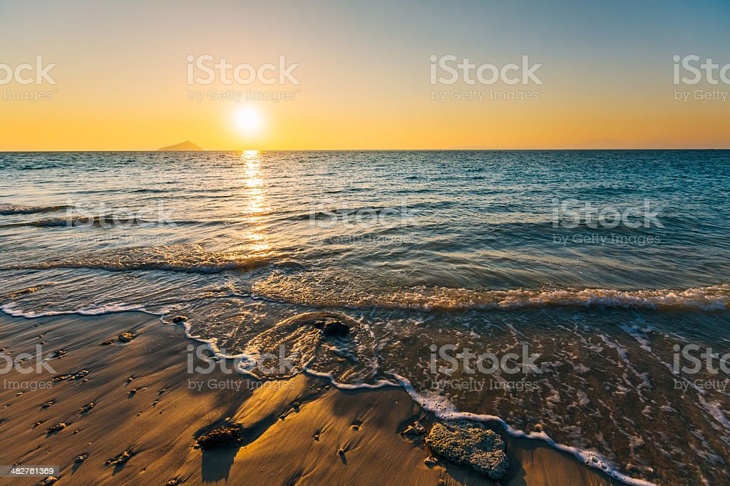Sunrise Beach south Of Thailand stock photo