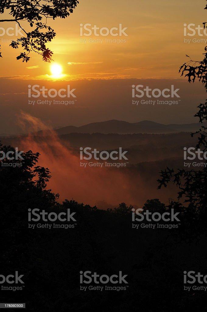 Sunrise - Blue Ridge, GA royalty-free stock photo
