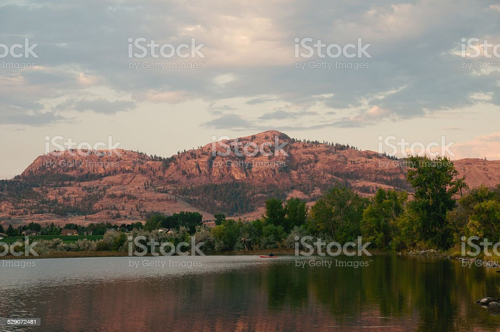 Sunrise by the Mountains stock photo