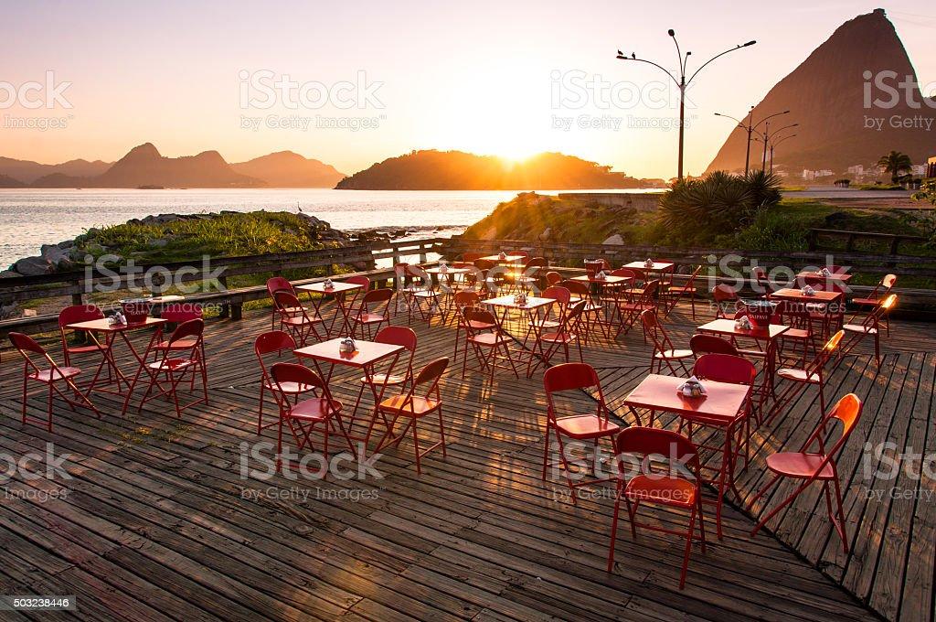 Sunrise Cafe stock photo