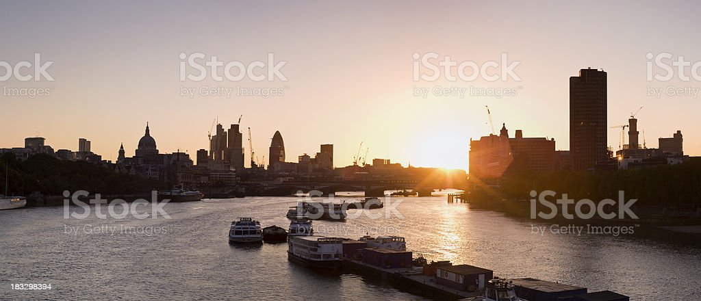 Sunrise, central London panorama. royalty-free stock photo