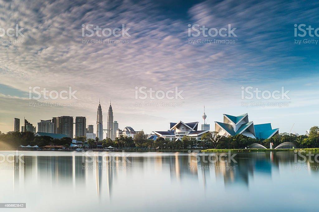Sunrise Cityscape Kuala Lumpur in the morning stock photo