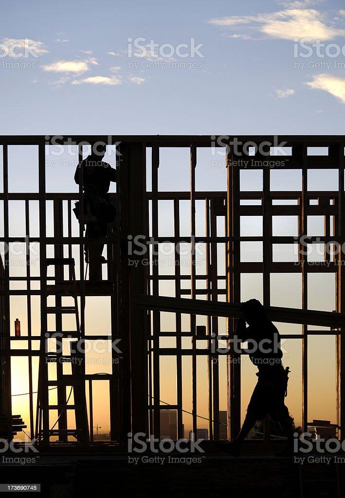Sunrise Construction stock photo