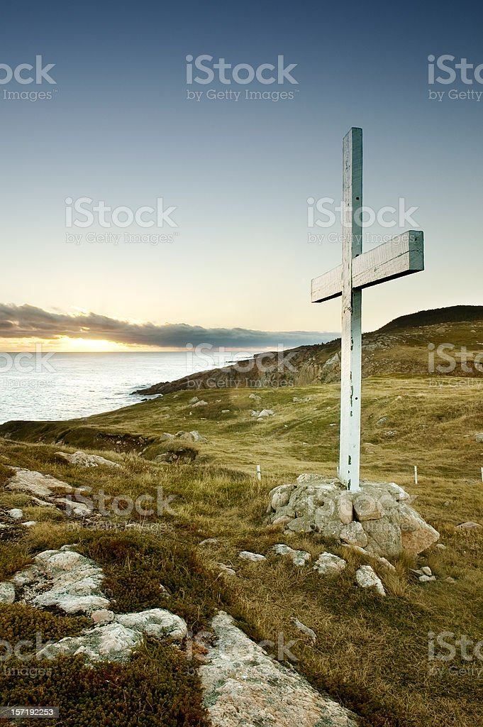 Sunrise Cross royalty-free stock photo